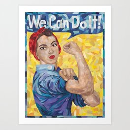 We Can Do It! Rosie the Riveter Art Print