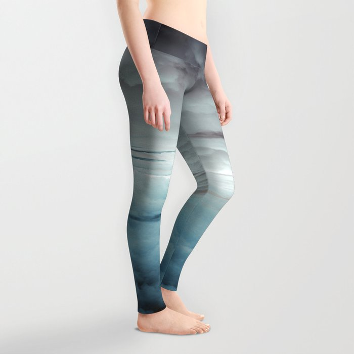 Glacier Painted Clouds Leggings