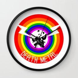 Death Metal Panda Wall Clock