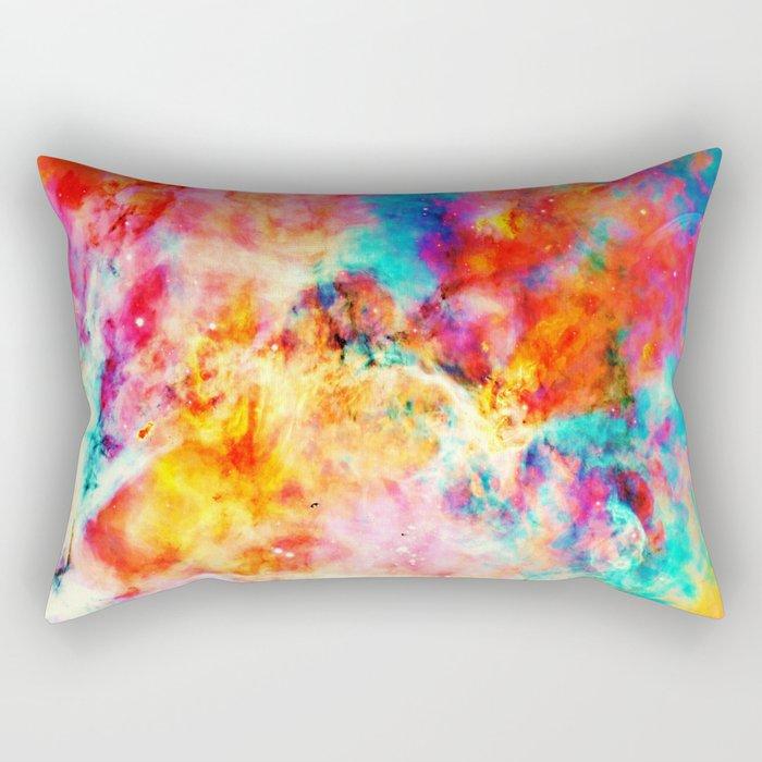 Colorful Abstract Nebula Rectangular Pillow