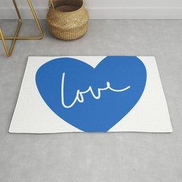 Loving heart - blue Rug