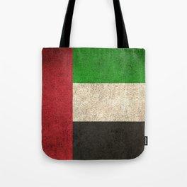 Old and Worn Distressed Vintage Flag of United Arab Emirates Tote Bag