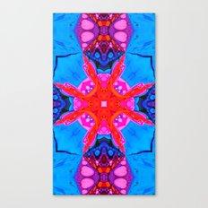 Liquid Blue Pink Fractal Canvas Print