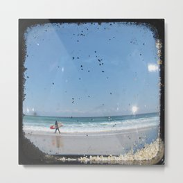 Sand & Surf - Through The Viewfinder (TTV) Metal Print