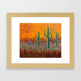 Saguaros Dreaming Framed Art Print