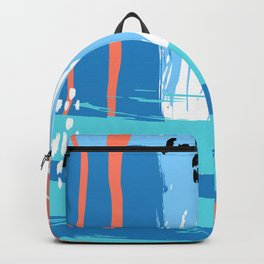 Abstract Blue Grunge Backpack