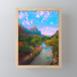 Flowing With The River Framed Mini Art Print