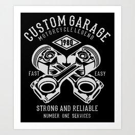 custom garage Art Print