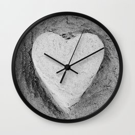 Sand Castle Heart Wall Clock
