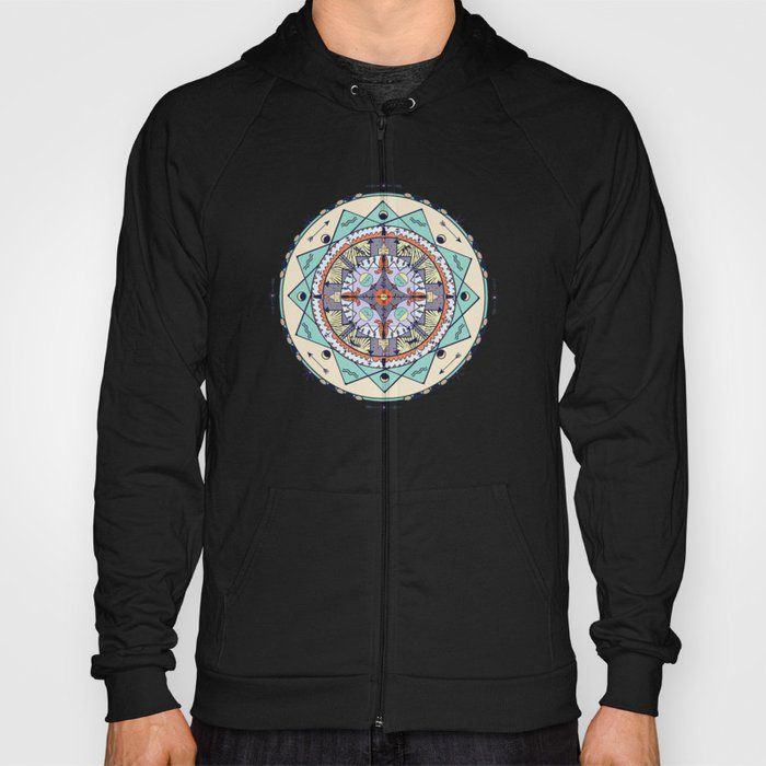 Time and Light Native Shapes Mandala Hoody