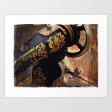 Antique Sewing Machine Art Print