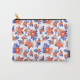 Florida floral orange and blue gators swamp varsity minimal university sports football fan Carry-All Pouch