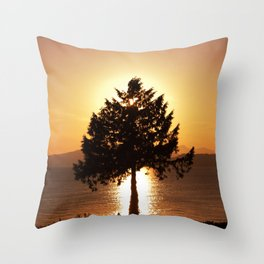 Summer Sunset Tree  Throw Pillow