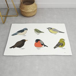 Red and yellow bird Rug