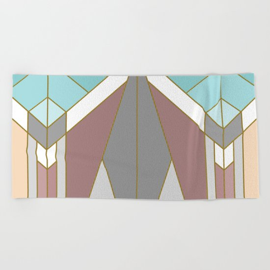ART DECO G2 (abstract geometric) Beach Towel