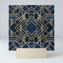 Art Deco Fancy Blue Mini Art Print