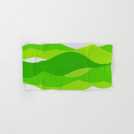 Waves - Lime Green Hand & Bath Towel