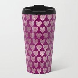 Hearts pattern Travel Mug