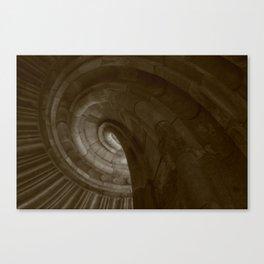 Sand stone spiral staircase 3 Canvas Print