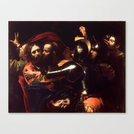 The Taking of Christ by Caravaggio (1602) Canvas Print