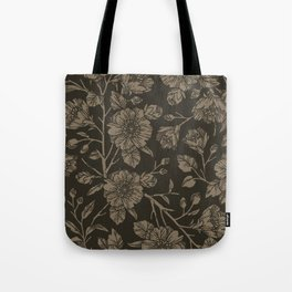 Midnight Blooms Tote Bag