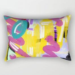 Hues and Vibes of the 90s Rectangular Pillow