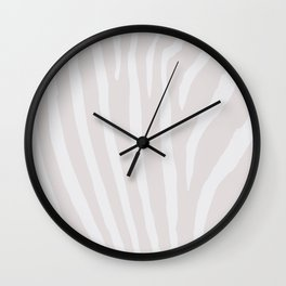 Tan & Off White Zebra Print Wall Clock