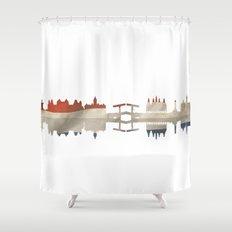 Amsterdam silhouette.  Shower Curtain