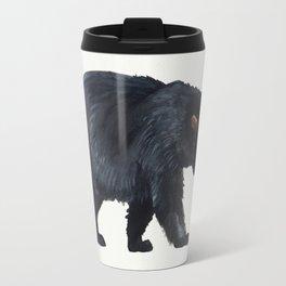 Watercolour Black Bear Drawing Travel Mug
