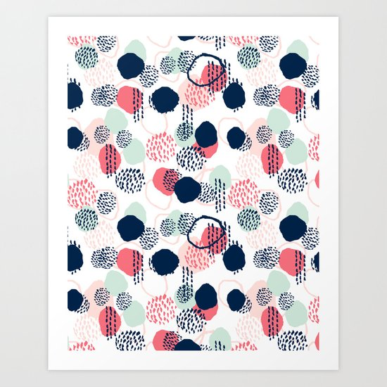 Orly - abstract painting minimal trendy girly gender neutral pattern decor Art Print