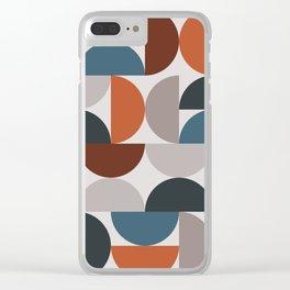 Mid Century Modern Geometric 25 Clear iPhone Case