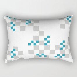 rectangles Design turquoise grey Rectangular Pillow