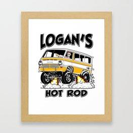 Logan's Hot Rod Van -1 rev2 Framed Art Print