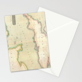 Vintage Map of The English Channel (1814) Stationery Cards
