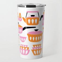My Midcentury Modern Kitchen In Pink And Tangerine Travel Mug