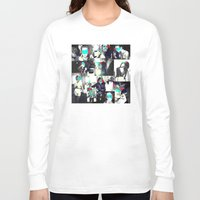 smoke Long Sleeve T-shirts featuring Smoke by victorygarlic