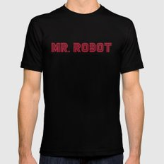 Mr. Robot SMALL Black Mens Fitted Tee