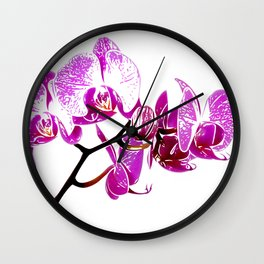 Orchidea, flower Wall Clock