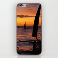 philippines iPhone & iPod Skins featuring Borocay Sunset Philippines by brokentoph