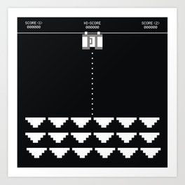 Briefs Invaders Art Print
