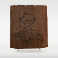 wes anderson Shower Curtains featuring Hans Christian Anderson by Hazel Bellhop