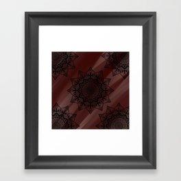 Floral Mandala Framed Art Print