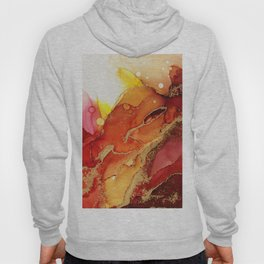 Golden Flame Abstract Ink - Part 1 Hoody