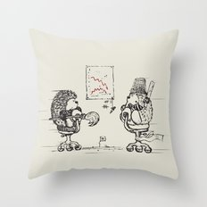 Meanwhile,at the office... Throw Pillow