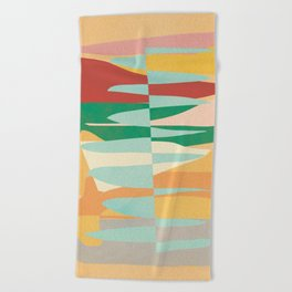 Abstract Vertical Waves Beach Towel