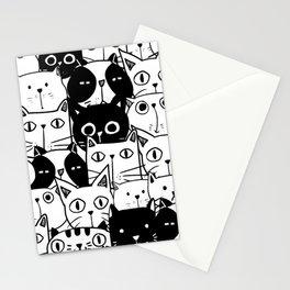 MONOCHROME CAT PATTERN Stationery Cards