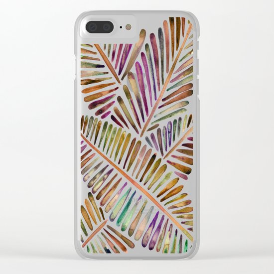 Tropical Banana Leaves – Vintage Palette Clear iPhone Case