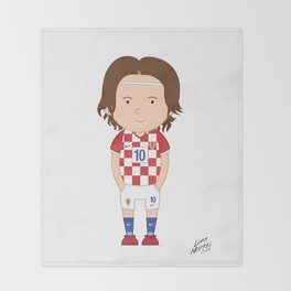 Luka Modrić - Croatia - World Cup 2014 Throw Blanket