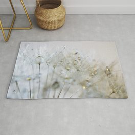 Gold and Silver Dandelion Rug