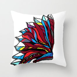 Native American Head-dress Throw Pillow